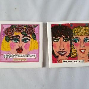 Bangirls Painted Art Tile Coasters Wall Decor